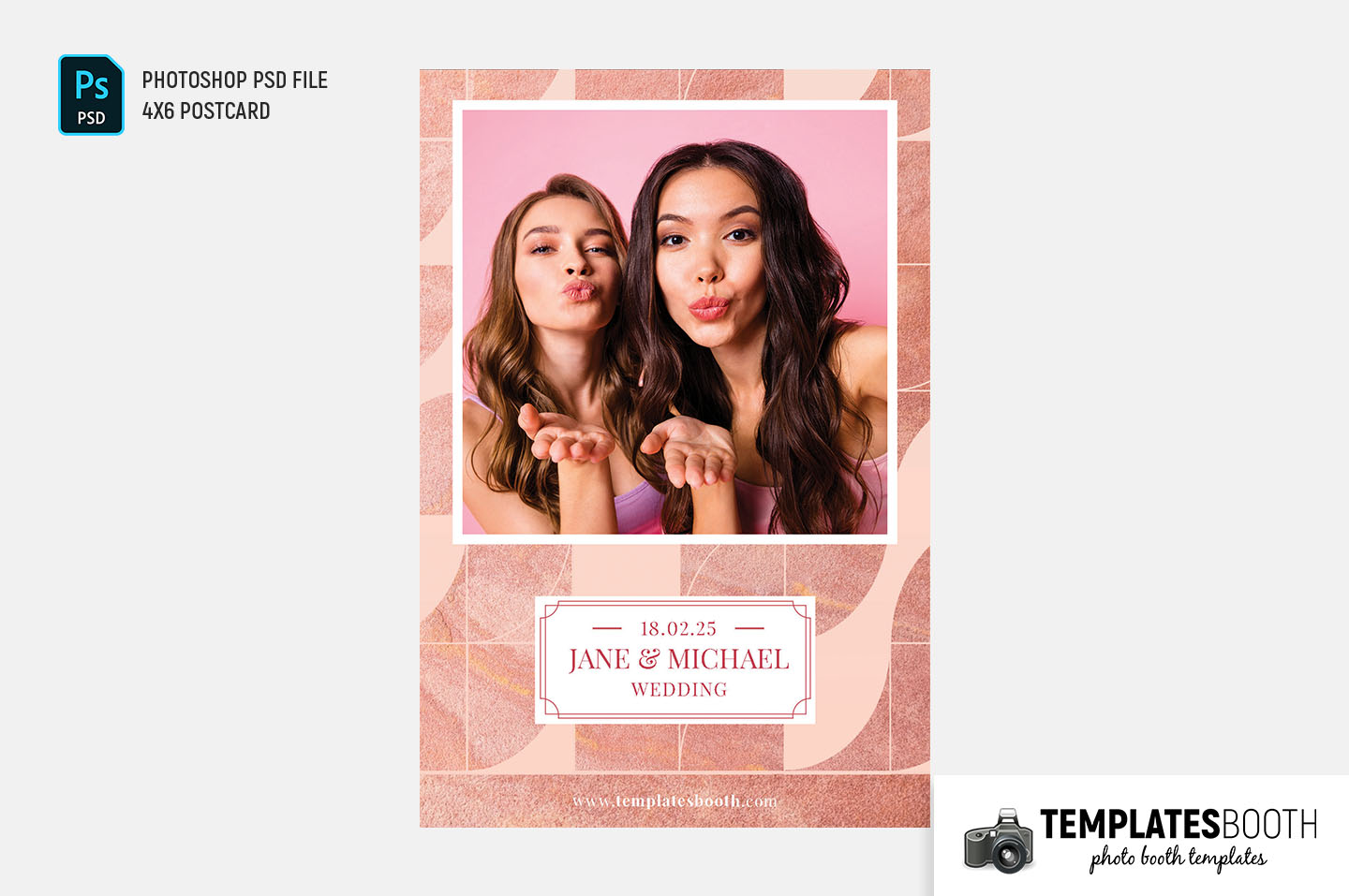 Rose Patterned Photo Booth Template