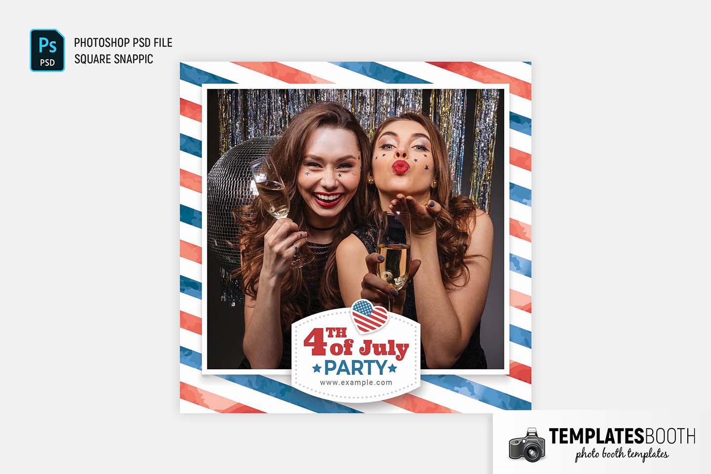 Free 4th July Photo Booth Template
