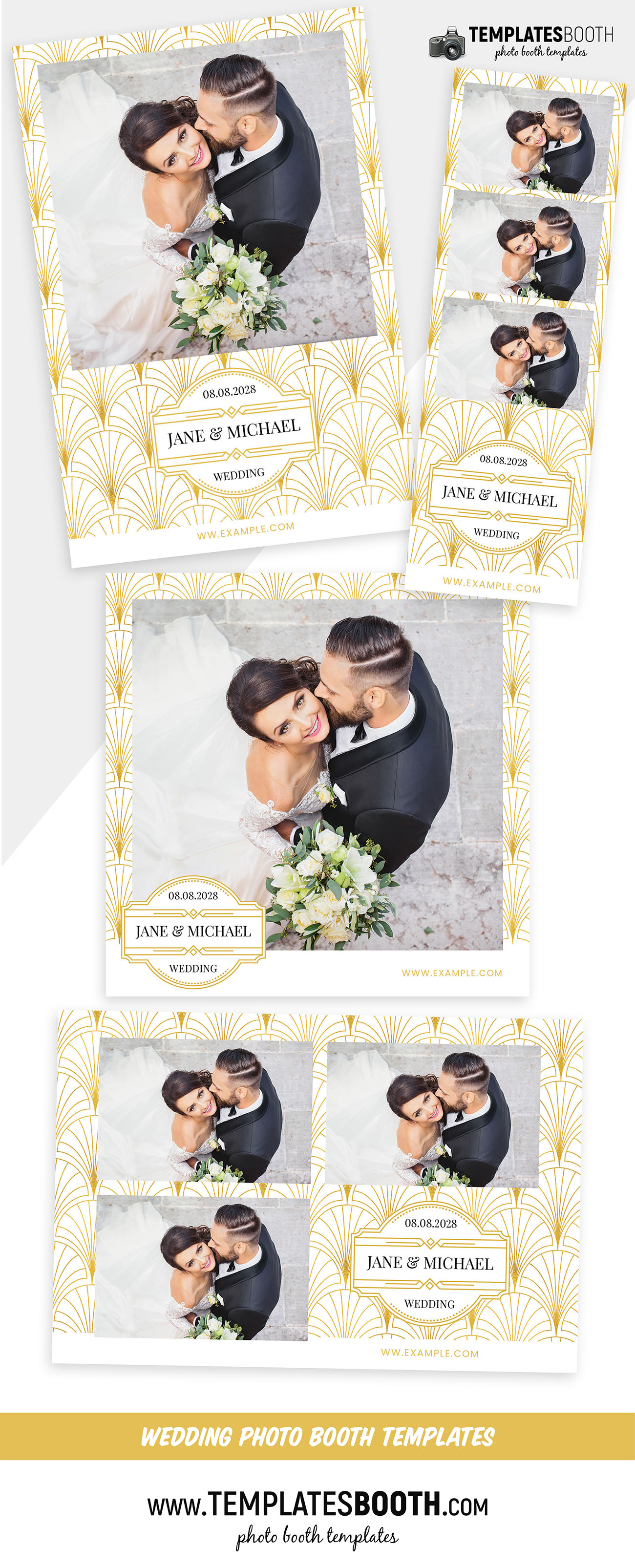 Art Deco Photo Booth Template (Photoshop PSD & DSLR Booth)