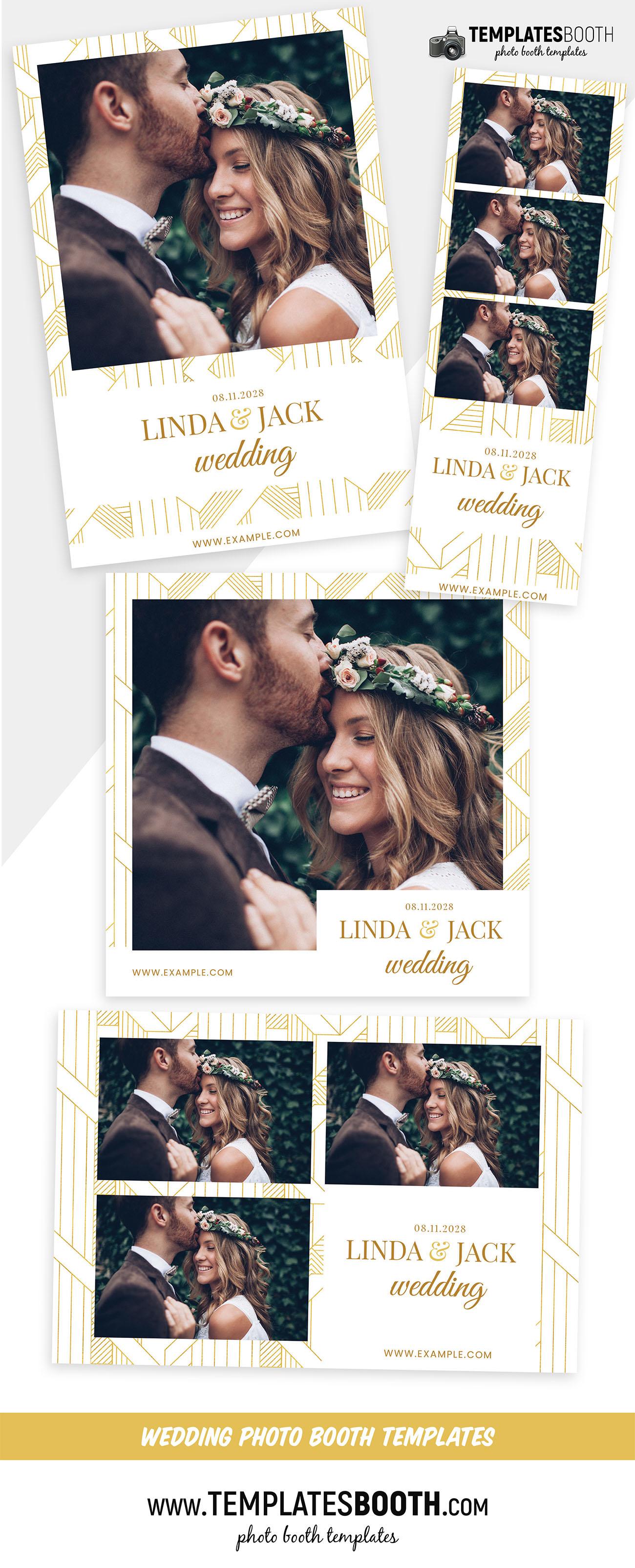 Minimal Art Deco Wedding Photo Booth Template (Photoshop PSD & DSLR Booth)