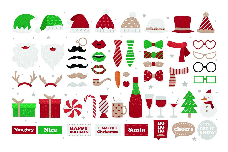 Christmas Digital Props (PNG, PSD, PDF)