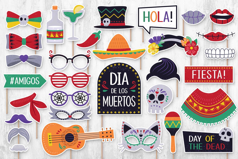 Dia De Los Muertos Digital Props (PNG, PSD, PDF Formats)