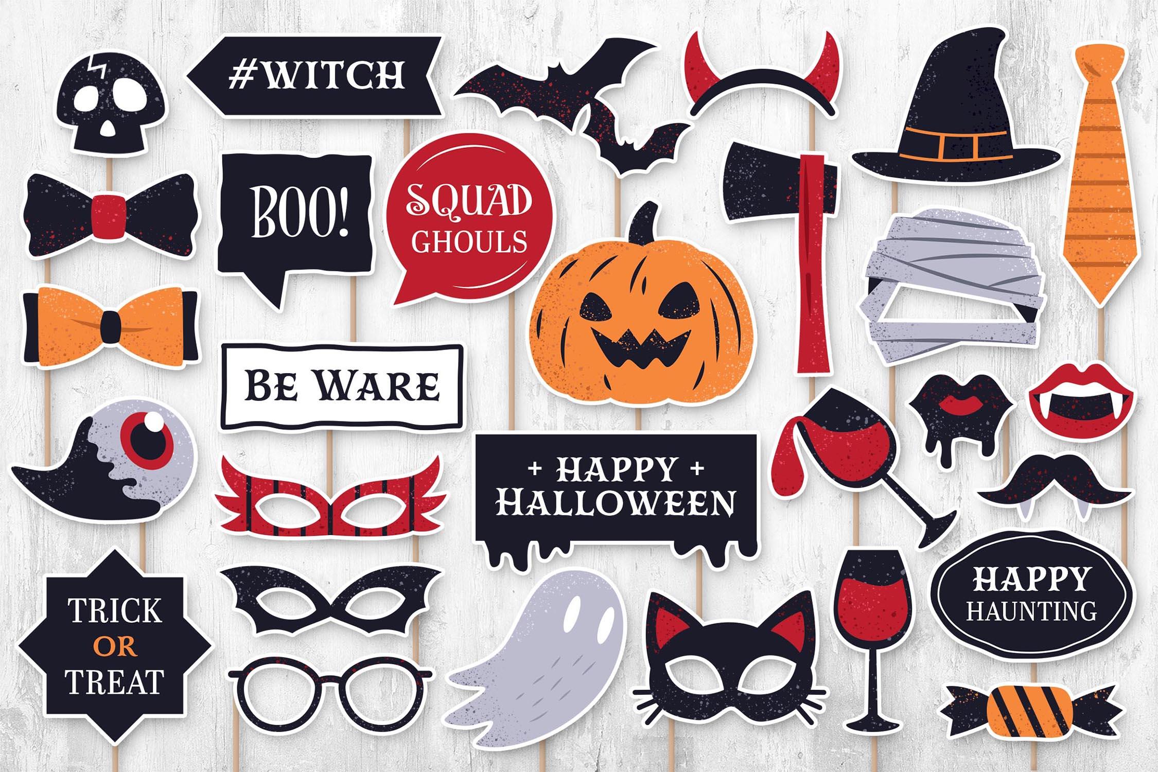 Halloween Digital Props (PNG, PSD, PDF)