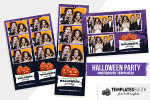Halloween Photo Booth Template (PSD, PNG, DSLR Booth)