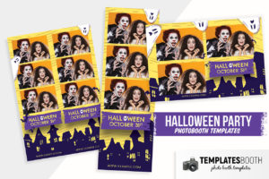 Halloween Photo Booth Template (PSD, PNG & DSLR Booth)