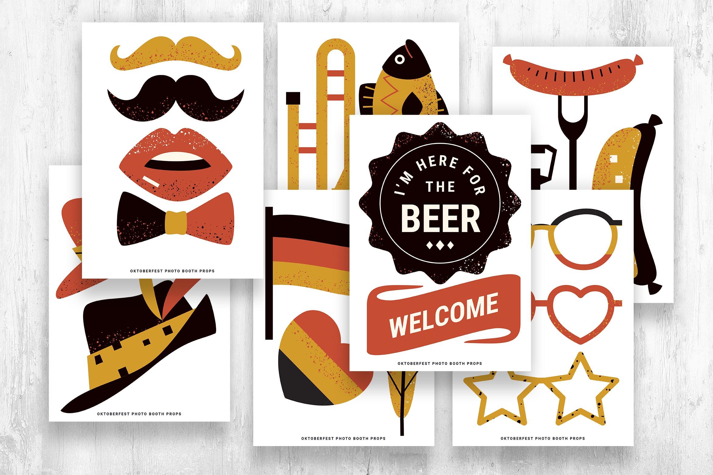 Oktoberfest Digital Props (PSD, PNG, PDF)