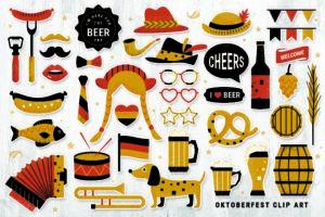 Oktoberfest Digital Props (PNG, Vector, PDF)
