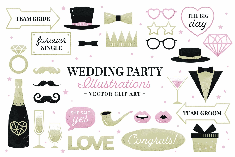 Wedding Digital Props (PNG, PSD, PDF Formats)