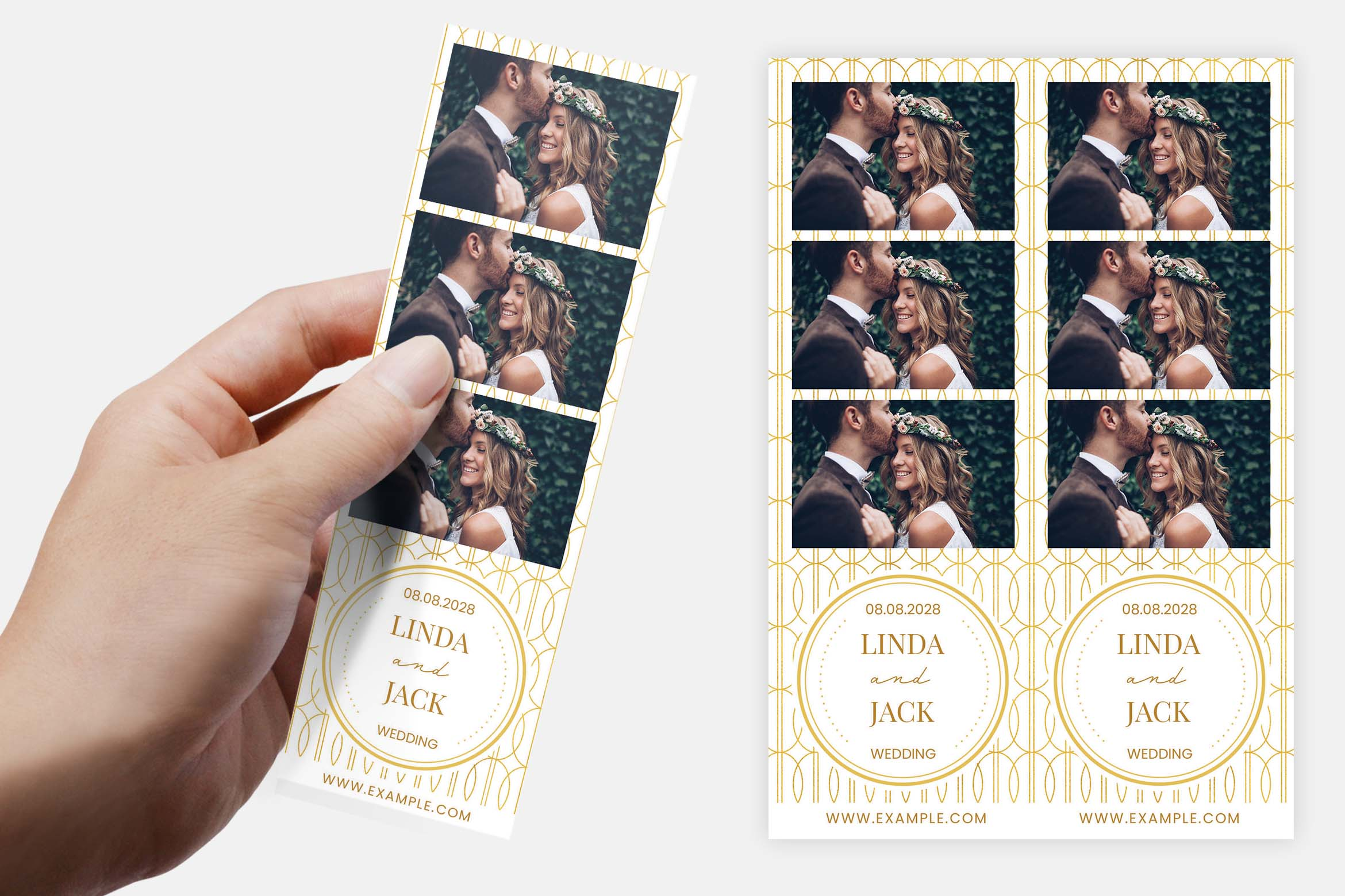 Wedding Photo Booth Template (PSD, PNG, DSLR Booth)