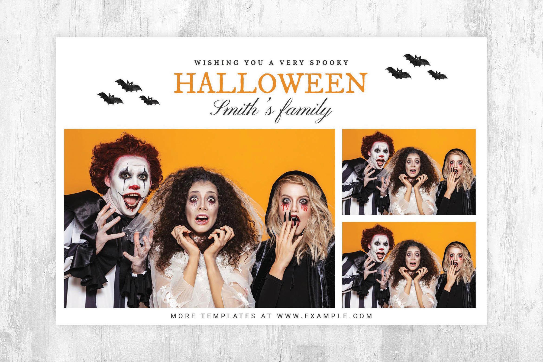 Minimal Halloween Photo Booth Template