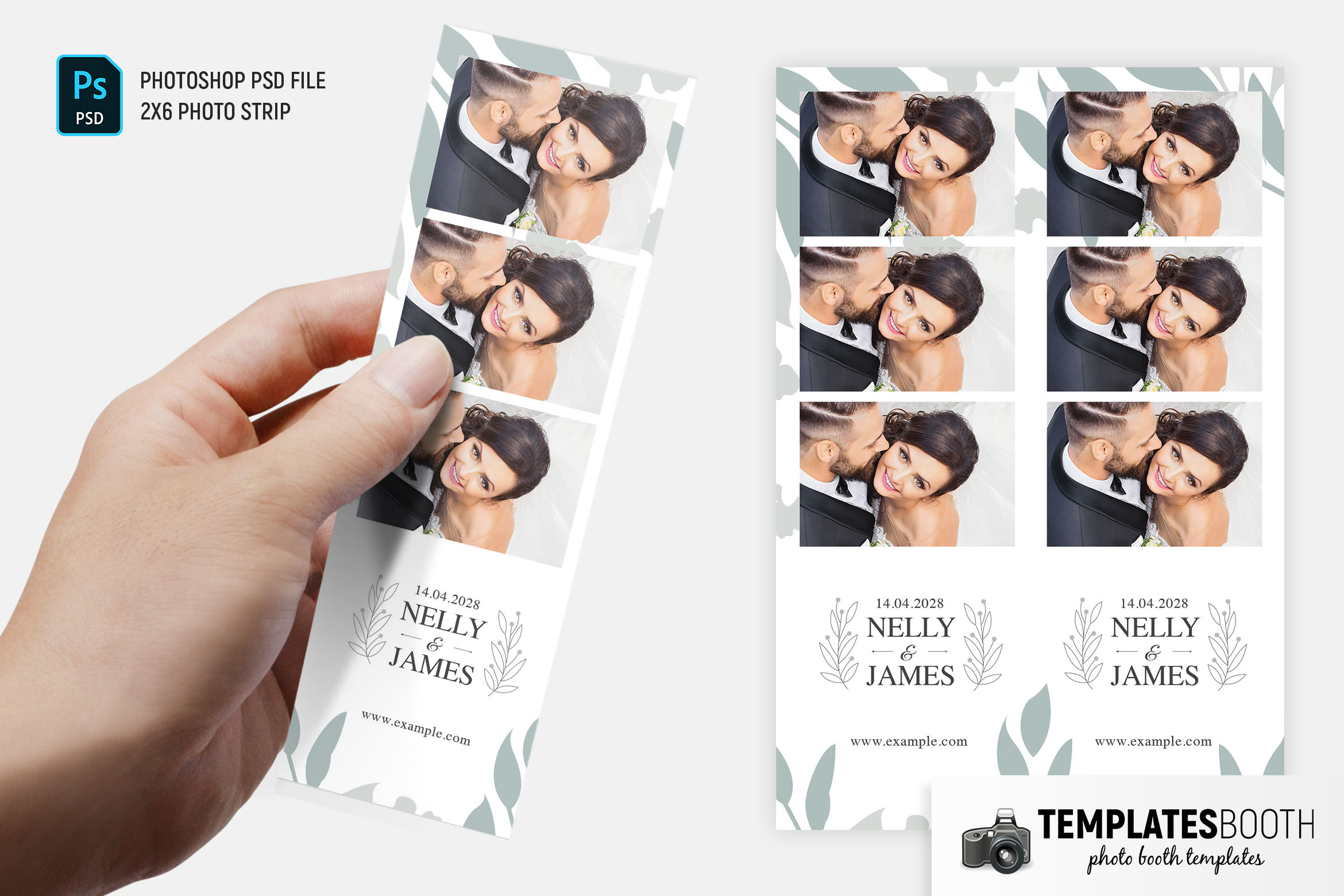 Minimal Wedding Photo Booth Template (PSD & DSLR Booth)