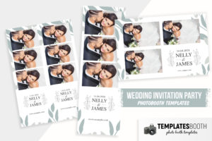 Minimal Wedding Photo Booth Template (PSD, DSLR Booth)