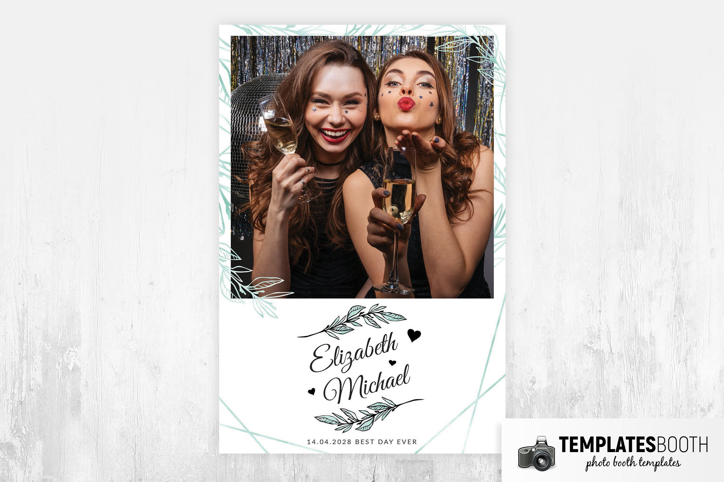 Simple Minimal Photo Booth Layout Template