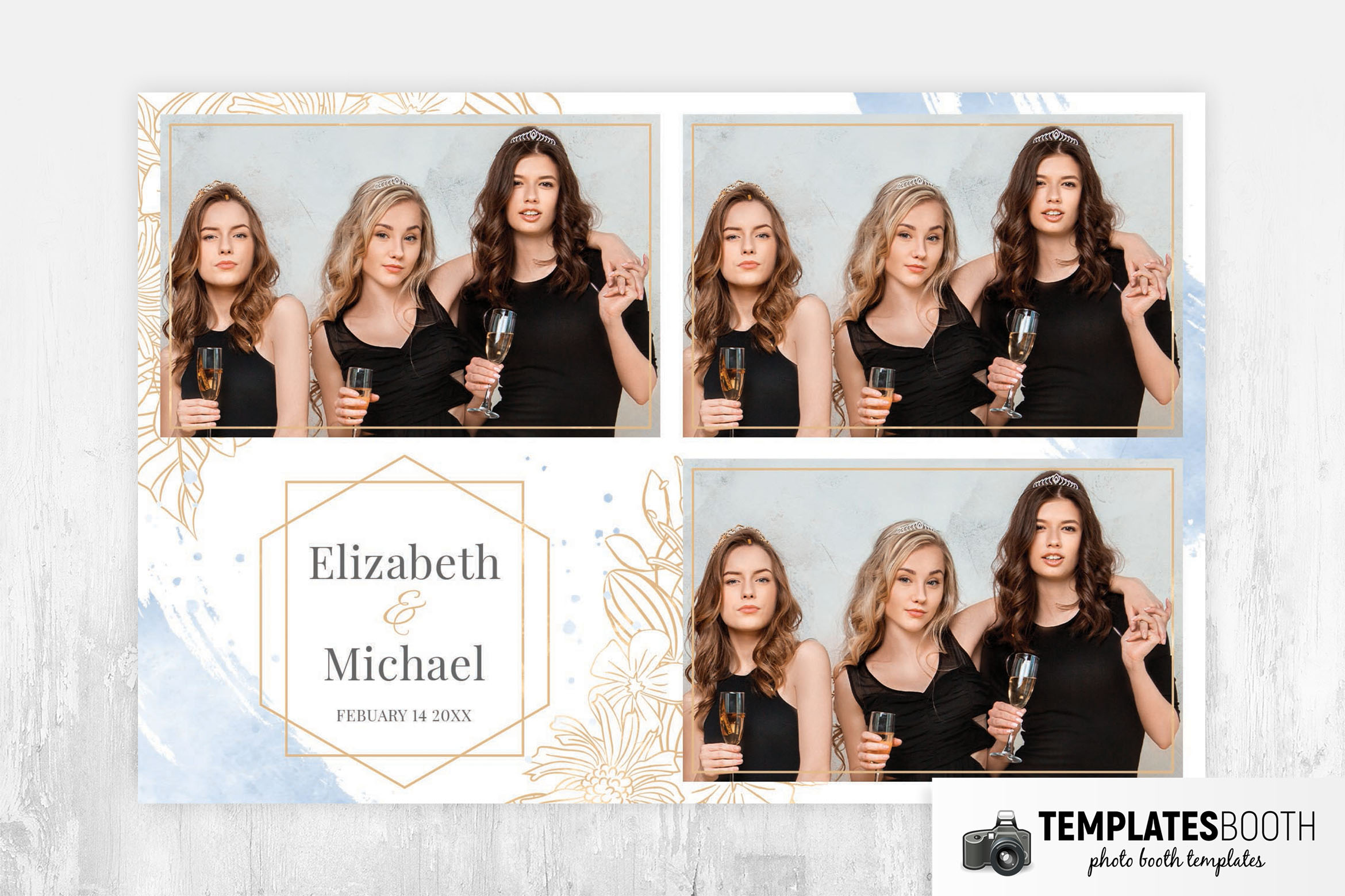 Simple Wedding Photo Booth Template