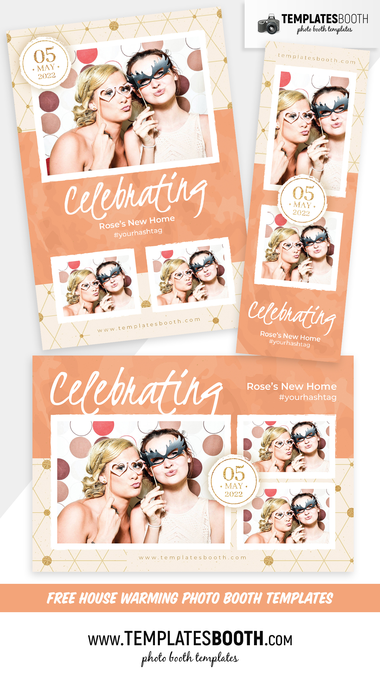 Free House Warming Photo Booth Template