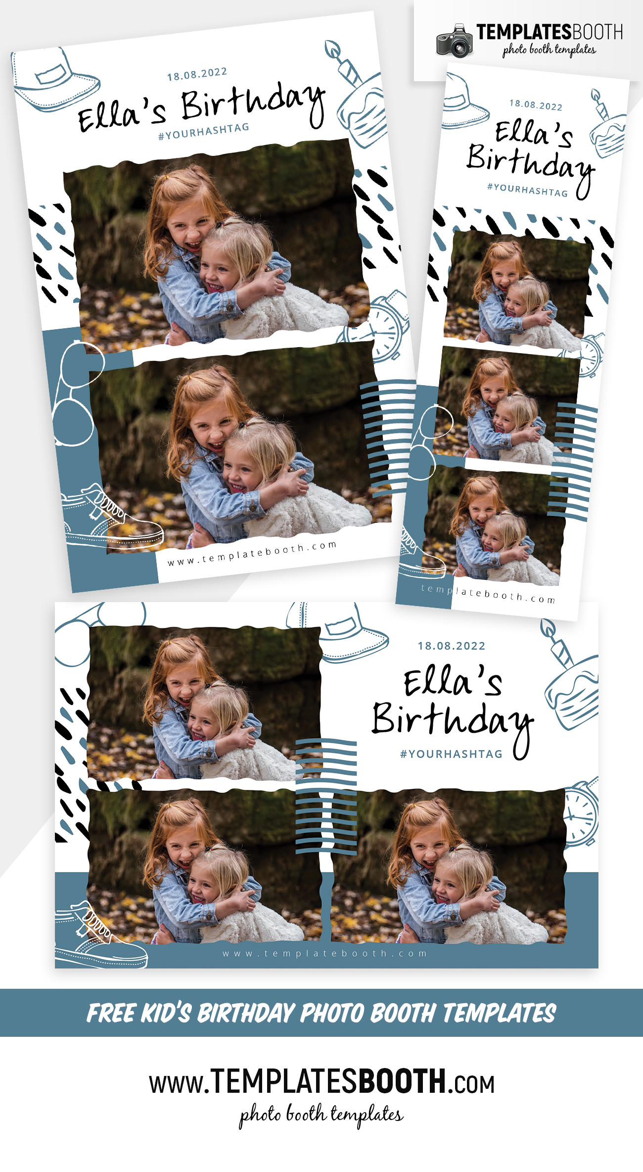 Free Kid's Birthday Photo Booth Templates