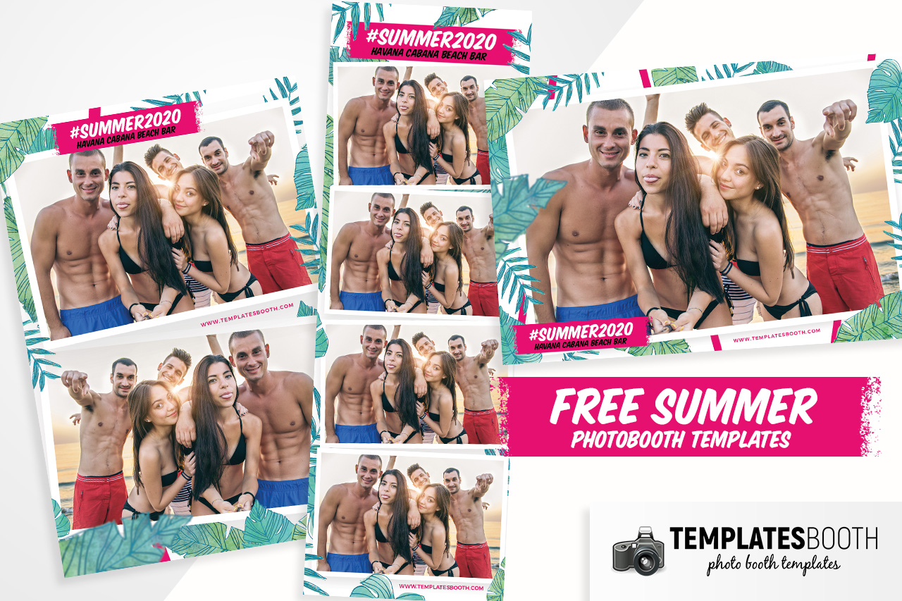 Free Summer Photo Booth Templates