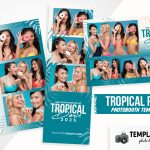 Free Tropical Photo Booth Template