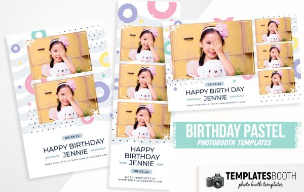 Birthday Pastel Photo Booth Template