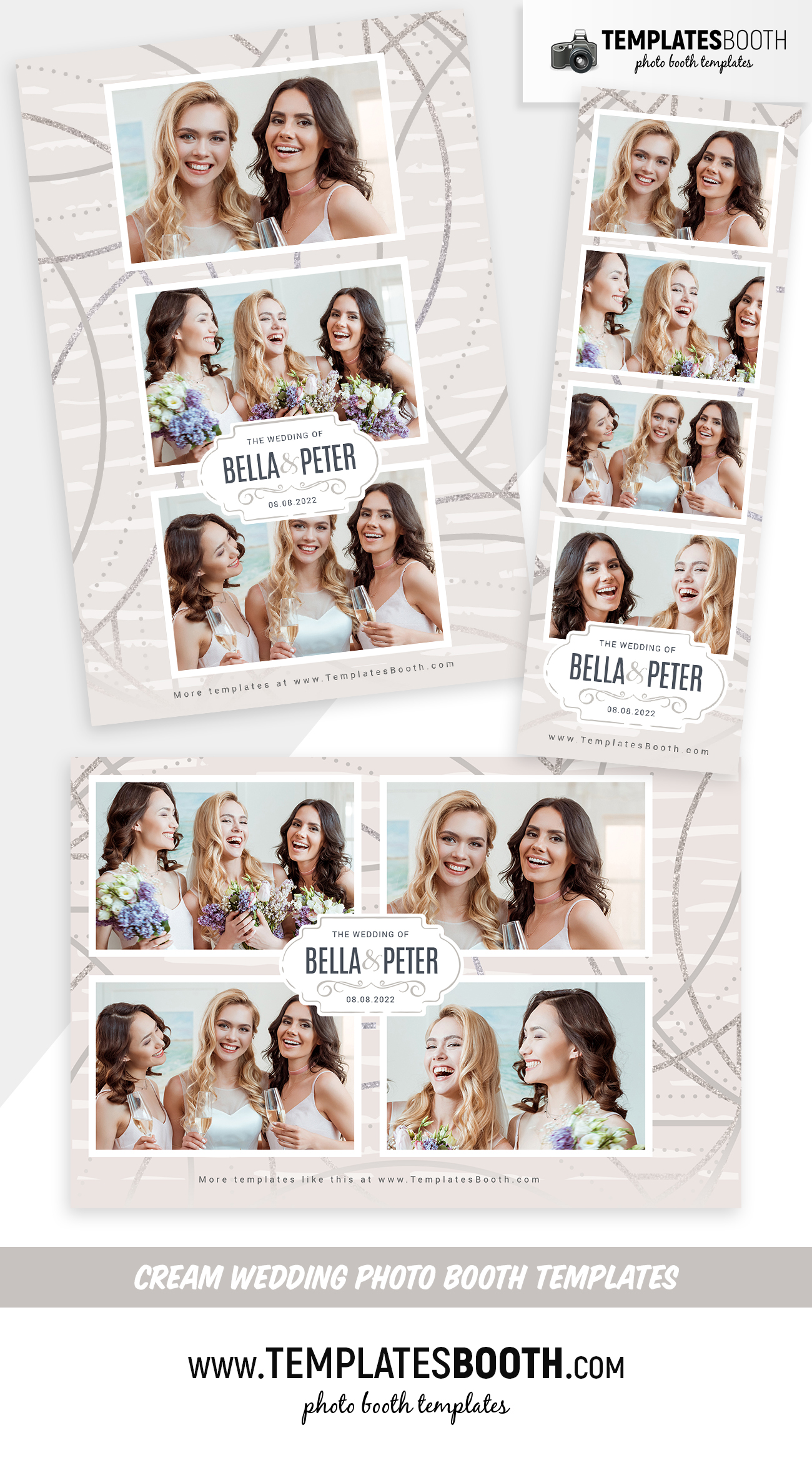 Cream Wedding Photo Booth Template