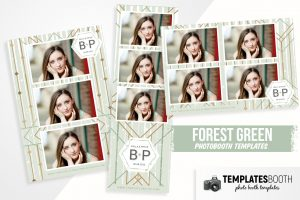 Forest Green Photo Booth Template