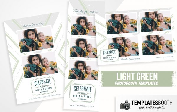 Light Green Photo Booth Template