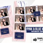 Pink & Blue Marble Photo Booth Template