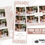 Pink Gold Wedding Photoshop Booth Template