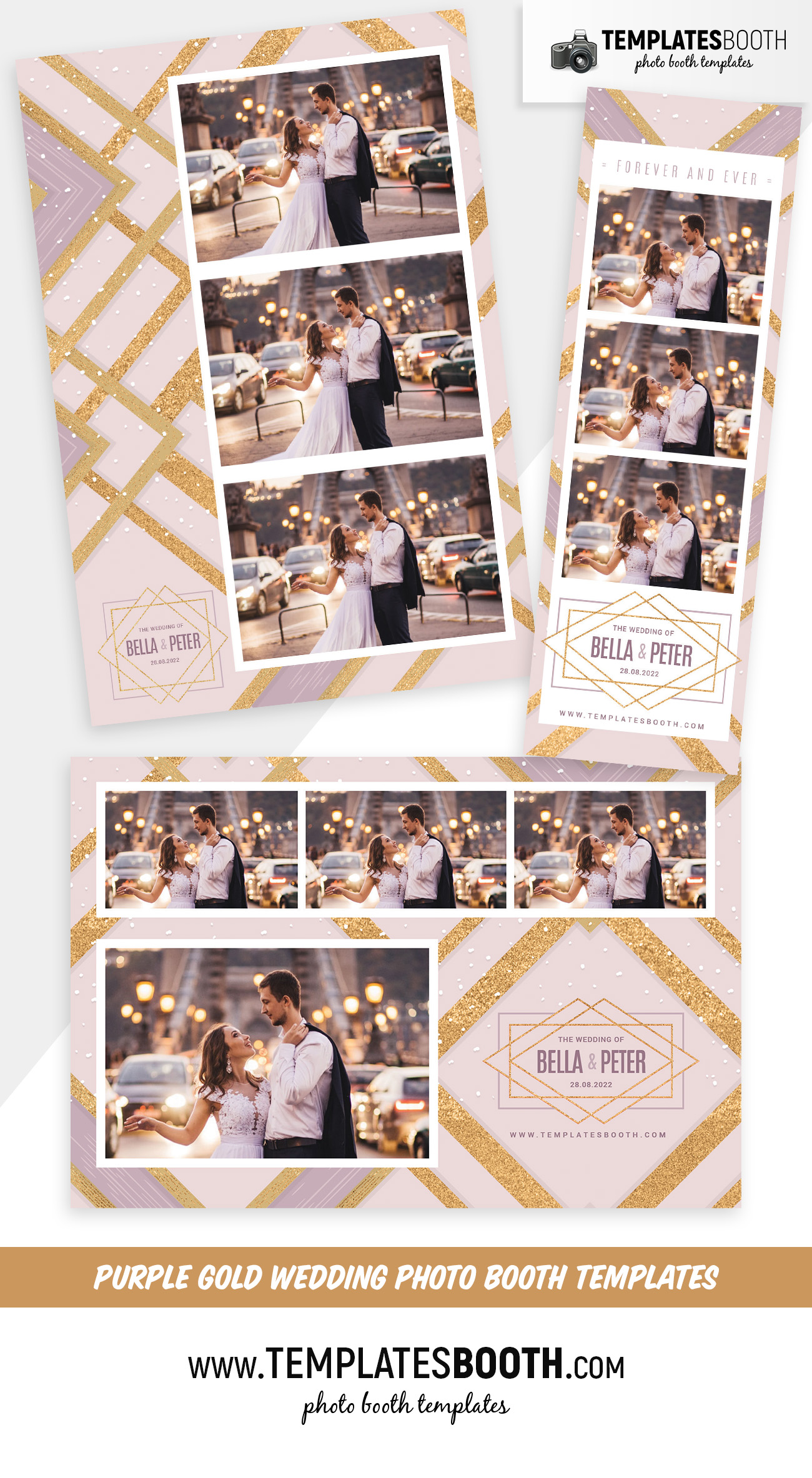 Purple & Gold Photo Booth Template