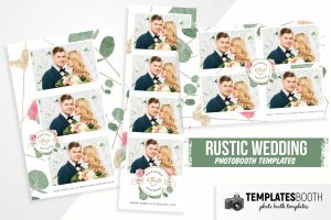 Rustic Wedding Photo Booth Template