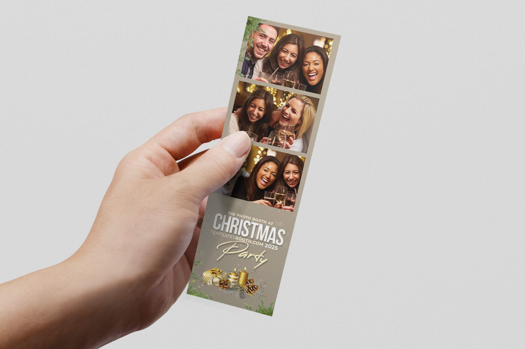 "2x6"" Christmas Photo Strip Template"