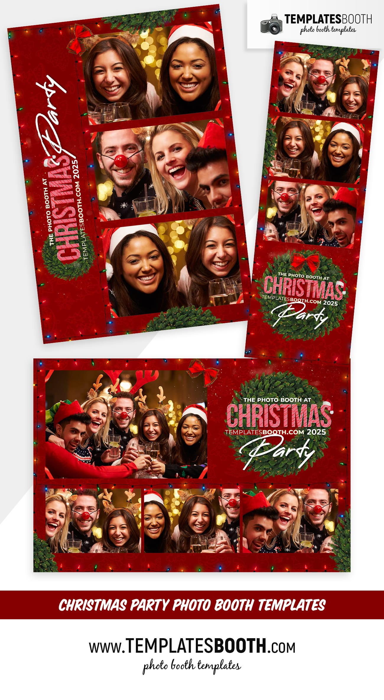 Christmas Party Photo Booth Templates