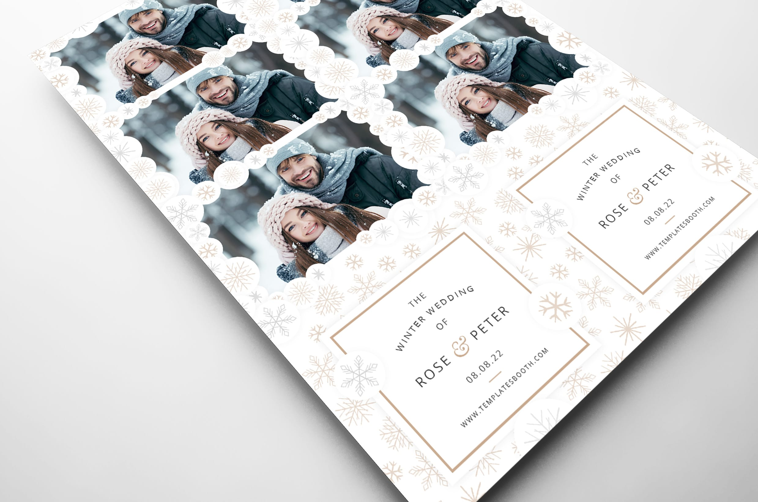 Contemporary Winter Photo Booth Template (close up)