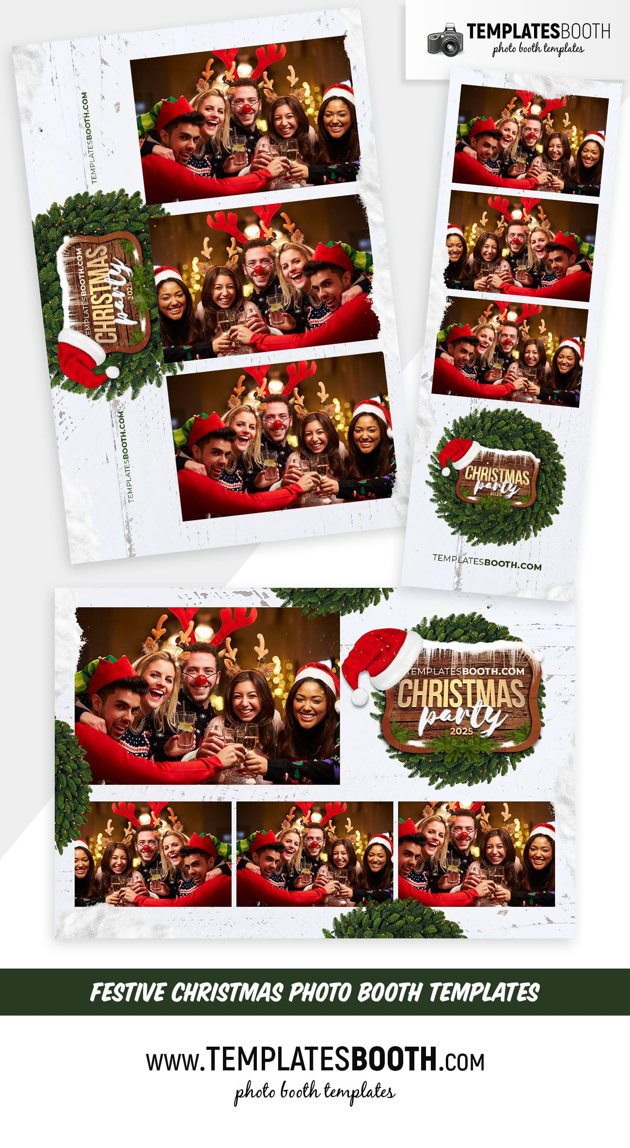 Festive Christmas Photo Booth Templates