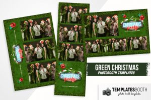 Green Christmas Photo Booth Template