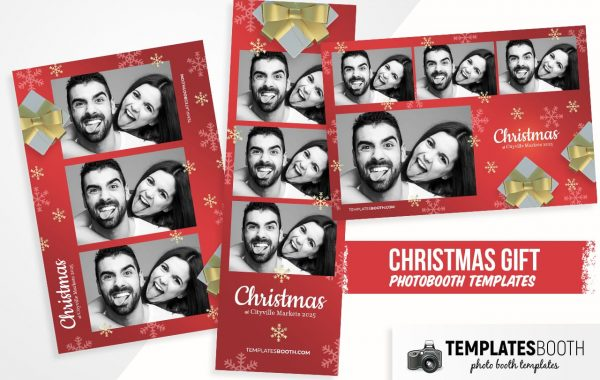 Christmas Gifts Photo Booth Template