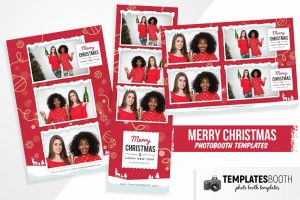Merry Christmas Photo Booth Template