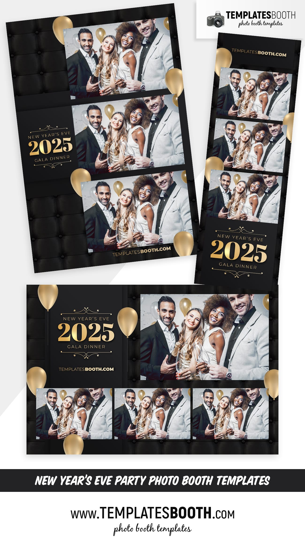 New Year's Eve Party Photo Booth Template (full preview)