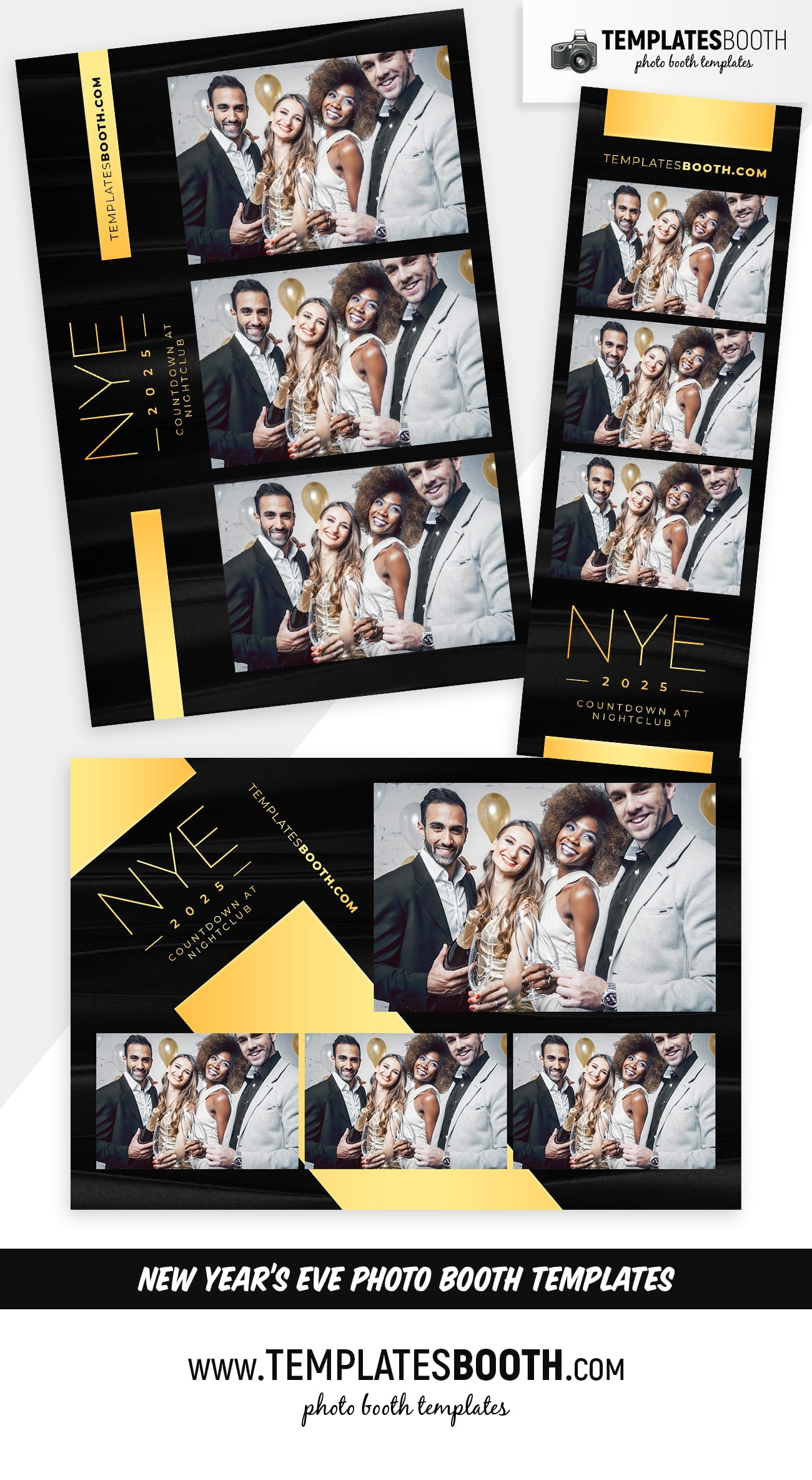 New Year's Eve Photo Booth Templates (full preview)