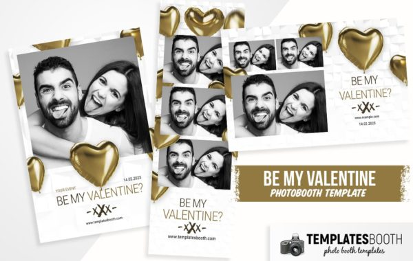 Be My Valentine Photo Booth Template