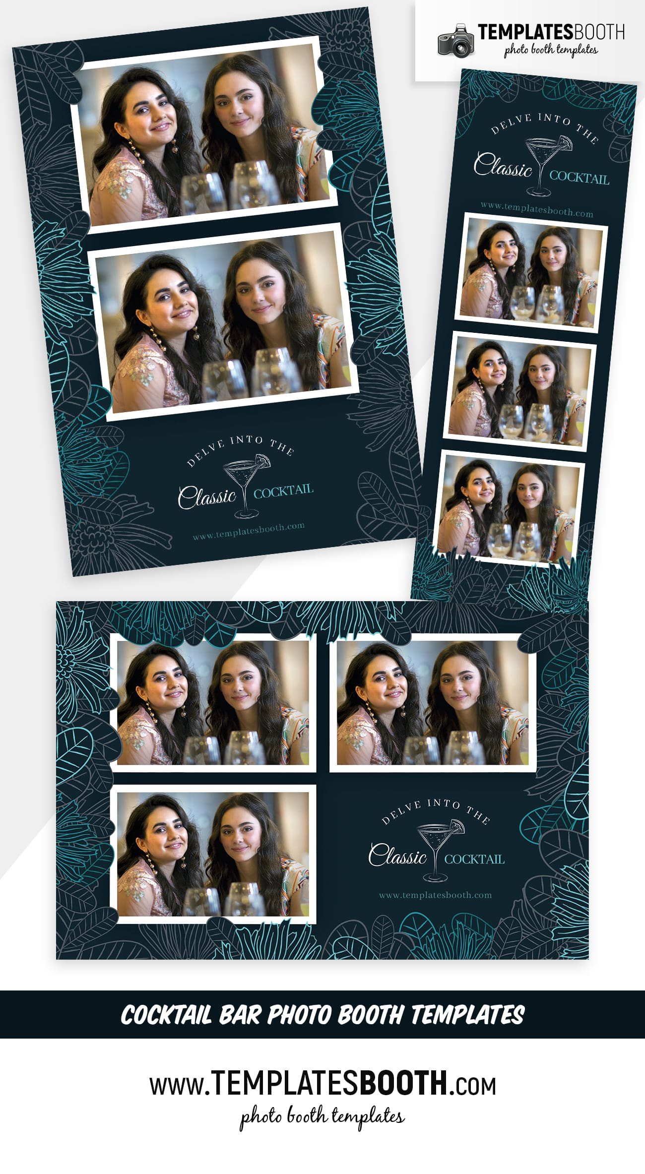 Cocktail Bar Photo Booth Template (full preview)