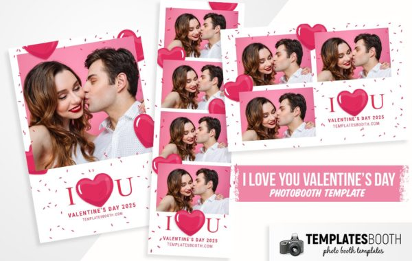 I Love You Valentine's Photo Booth Template