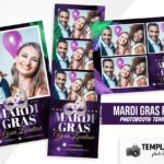 Mardi Gras Photo Booth Template