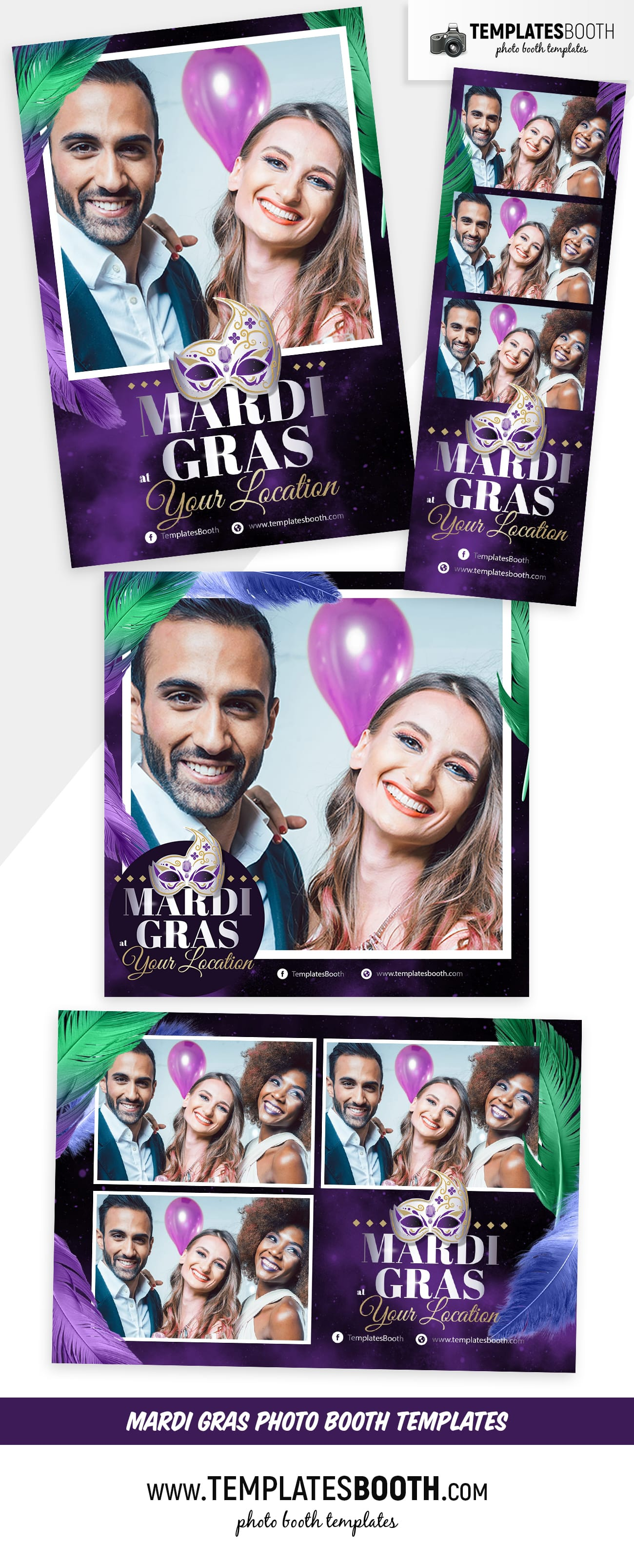 Mardi Gras Photo Booth Template (full preview)