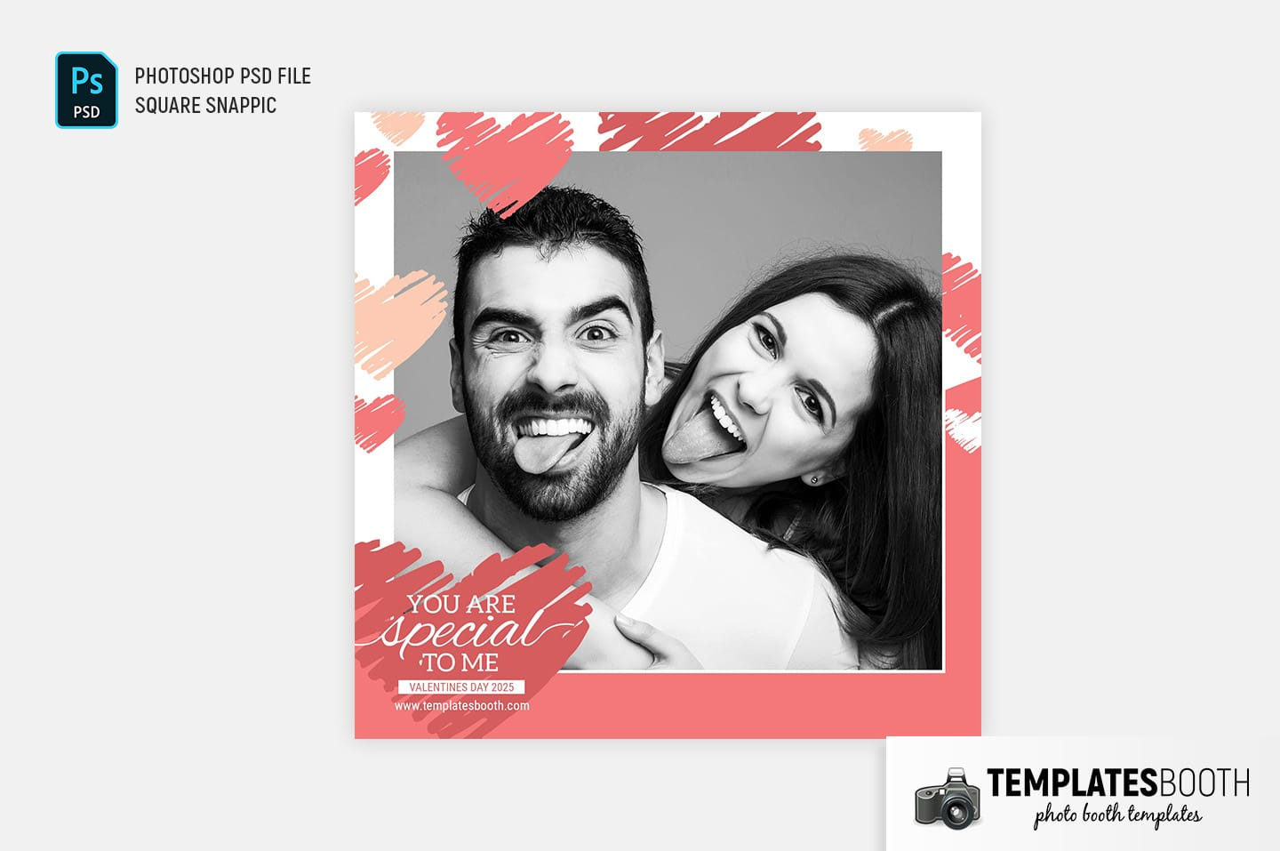 Valentine's Day Photo Booth Template (Snappic)