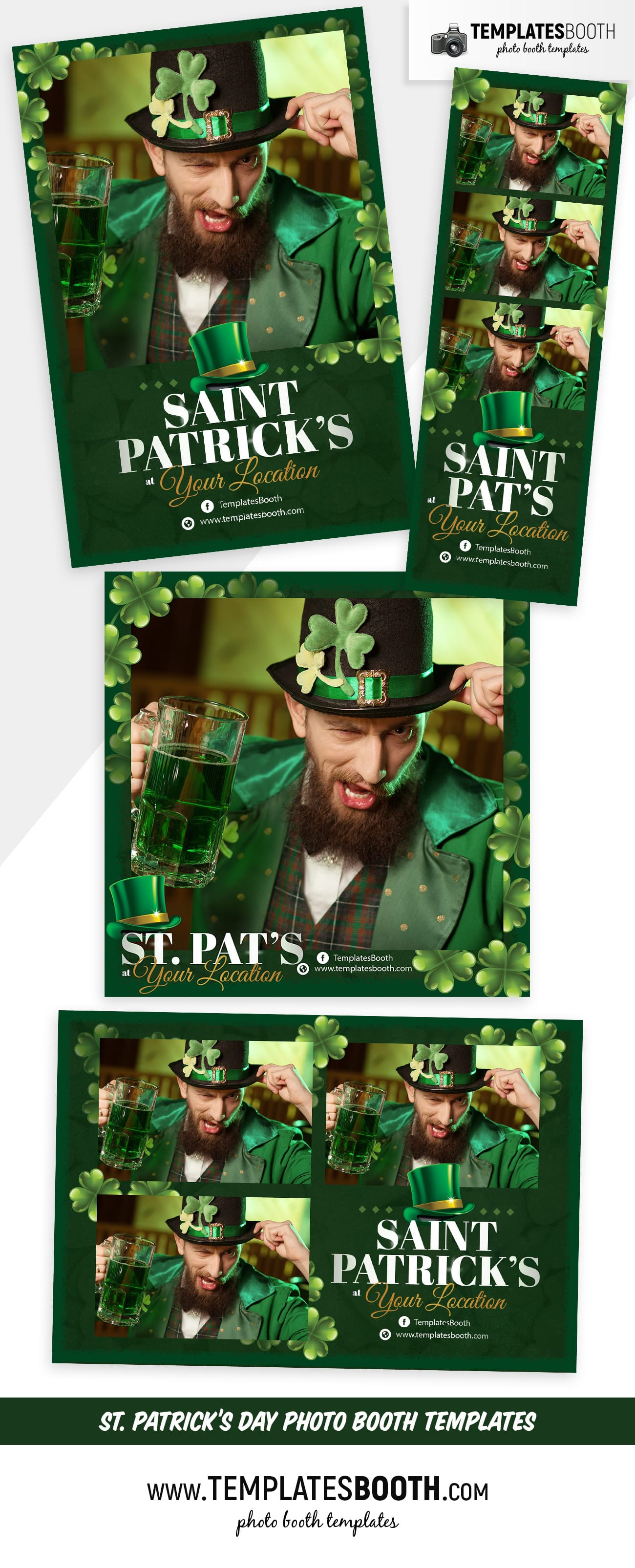 Saint Patrick's Day Photo Booth Template (full preview)