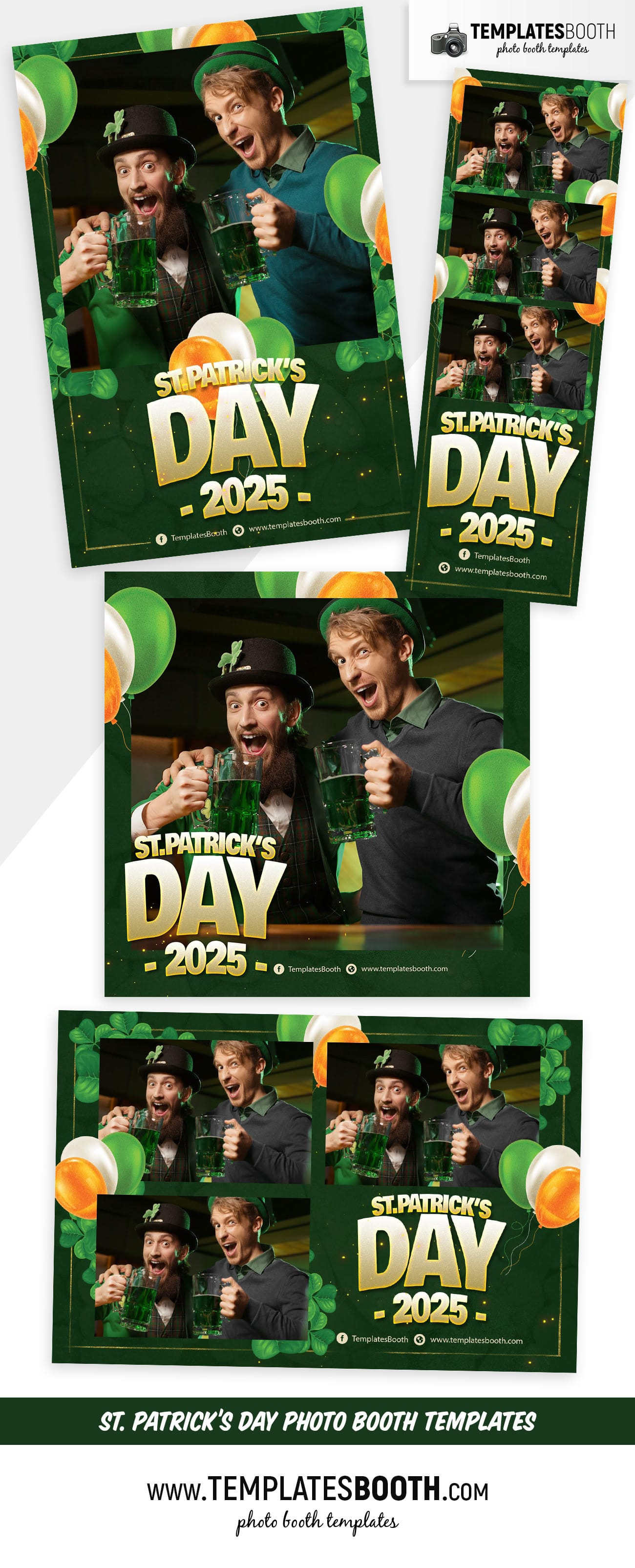 St. Patrick's Day Photo Booth Template (full preview)