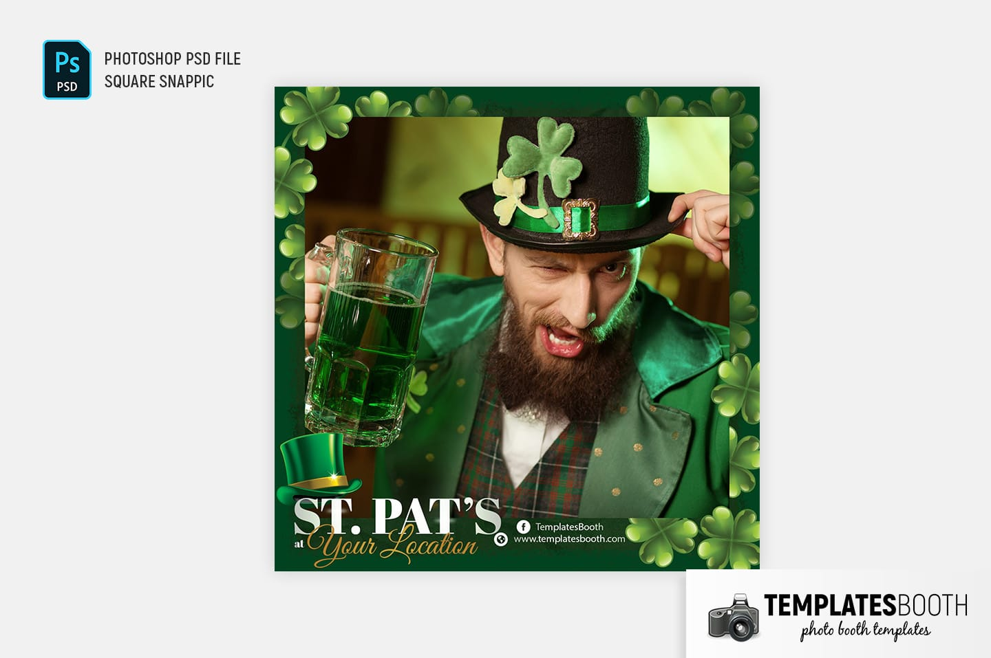 Saint Patrick's Day Photo Booth Template (for Snappic)