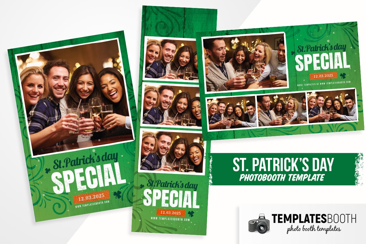 St. Patrick's Day Special Photo Booth Template