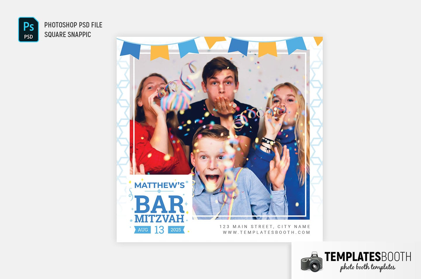 Bar Mitzvah Photo Booth Template (Snappic)